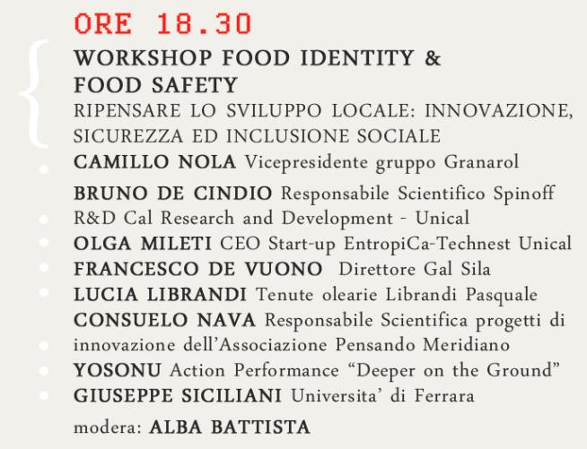 Ide(a)ntity: marketing, alimentare ed innovazione per lo sviluppo del territorio