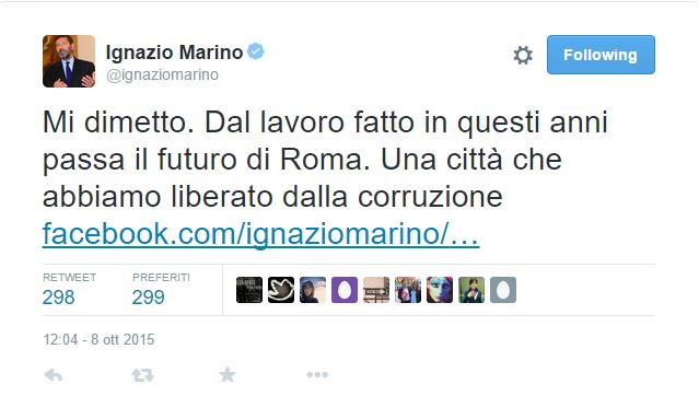 Roma: Marino si dimette. Quando la comunicazione è tutto o quasi.