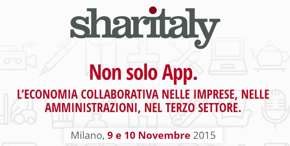 Sharitaly: conoscenza e competenze dell'economia collaborativa
