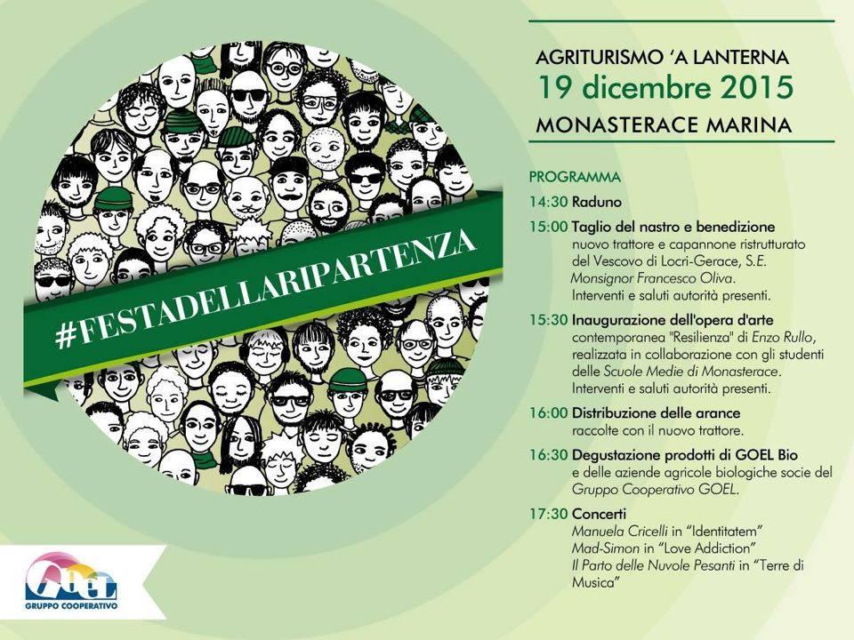 Goel Bio: sabato alla Festa della Ripartenza anche i ministri Poletti e Delrio