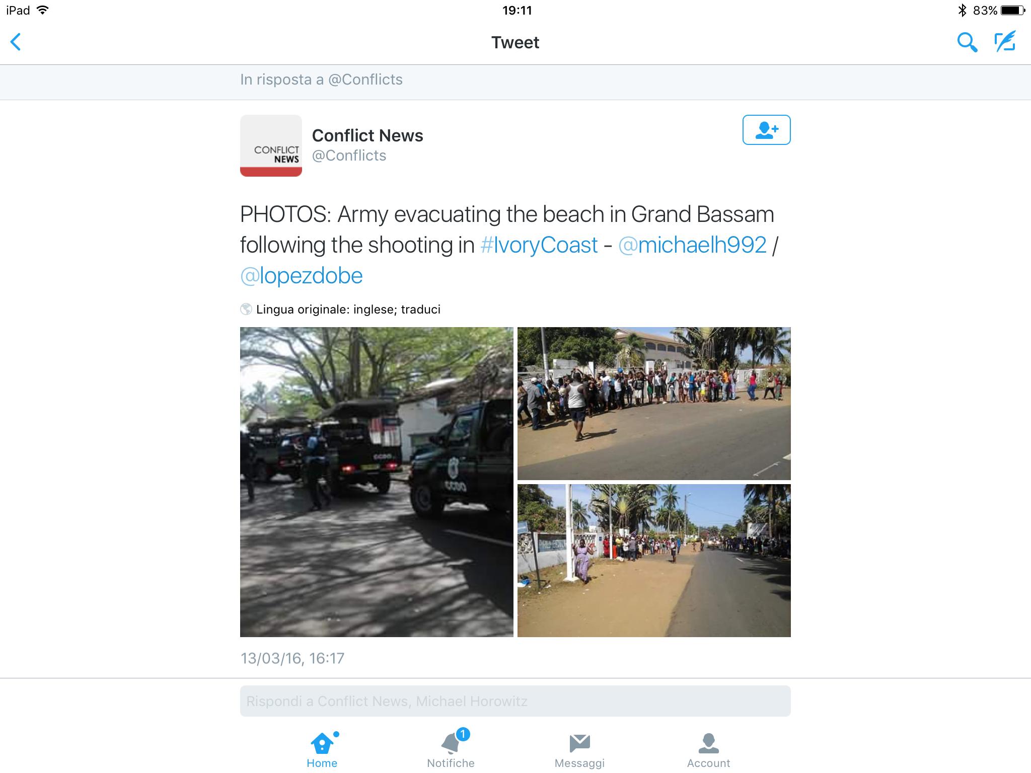 Costa d'Avorio: attentato al resort degli occidentali, almeno 12 vittime