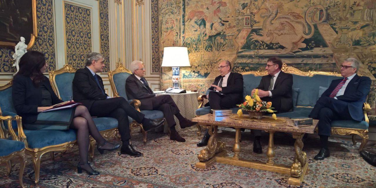L'Alleanza delle Cooperative dal Presidente Mattarella